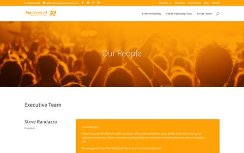 Screenshot of Team Page promotion1.com - People – Pro Motion - captured Jan. 31, 2016