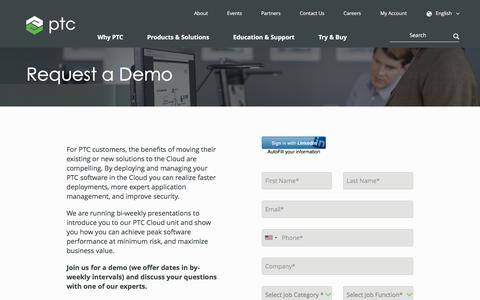Request a Demo | PTC Cloud | PTC