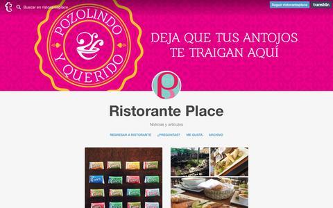 Screenshot of Blog ristorante.com.mx - Ristorante Place - captured April 14, 2016