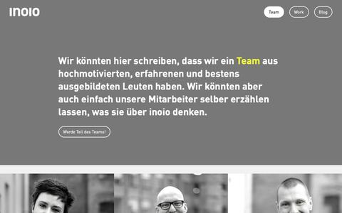 Screenshot of Team Page inoio.de - inoio gmbh   Team - captured Oct. 13, 2018