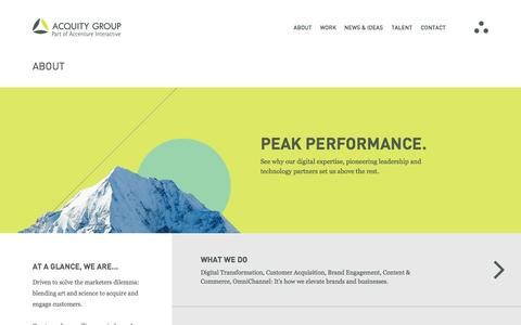 Screenshot of About Page acquitygroup.com - Digital Expertise    About Us   Acquity Group - captured Sept. 23, 2014