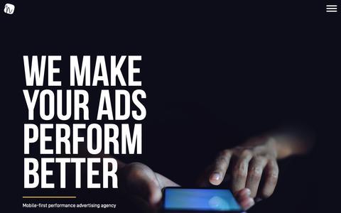 Screenshot of Home Page naramedia.com - Nara Media | Mobile-First Performance Advertising Agency - captured Nov. 6, 2018