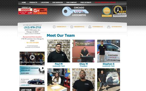 Screenshot of Team Page chicagolocksmiths.net - Chicago Locksmiths Our Team 312-878-2715 - Meet Chicago Locksmiths Team Behind The Best Locksmith Company in Chicago Area - captured Nov. 4, 2018