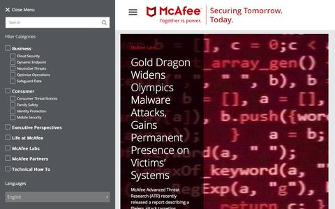 Securing Tomorrow. Today. | McAfee Blogs