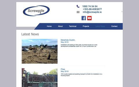 Screenshot of Press Page screwpile.ie - Screwpile | Subsidence and Piling | Cork | Screwpile | Latest News - captured Oct. 18, 2018