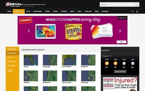 Screenshot of Maps & Directions Page wtsp.com - Weather Maps | Tampa Bay, FL - Sarasota, FL | WTSP.com 10 News - captured Oct. 26, 2014