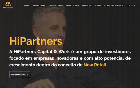 Screenshot of Home Page hipartners.com.br - HiPartners - Capital & Work - captured Sept. 28, 2018