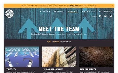 Screenshot of Team Page wmc.org.uk - Meet the team | Wales Millennium Centre - captured Oct. 20, 2018