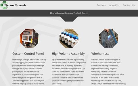 Screenshot of Services Page electro-controls.com - Electro Controls - captured Sept. 29, 2014