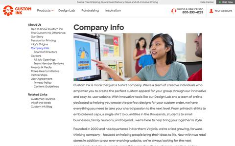 Custom Ink - Company Info