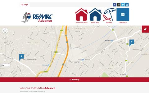 Screenshot of Home Page remaxadvance.co.za - RE/MAX ADVANCE - captured Sept. 30, 2014