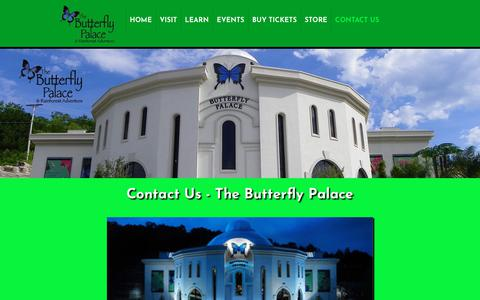 Screenshot of Contact Page thebutterflypalace.com - Contact Us - The Butterfly Palace - captured Dec. 4, 2018
