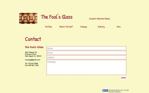 Screenshot of Contact Page thefoolsglass.com - thefoolsglass | Contact - captured June 15, 2017