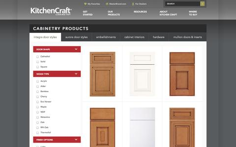Screenshot of Products Page kitchencraft.com - Cabinetry Products - Kitchen & Bathroom Cabinets - KitchenCraft.com - captured Sept. 23, 2014