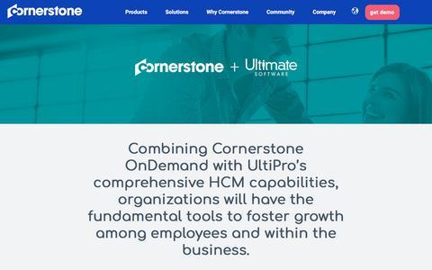 Screenshot of Landing Page cornerstoneondemand.com - Cornerstone Marketplace | Ultimate Software - captured Oct. 22, 2019