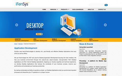 Screenshot of Services Page ifensys.com - iFenSys Software Solutions Pvt. Ltd | Application Development - captured Oct. 6, 2014