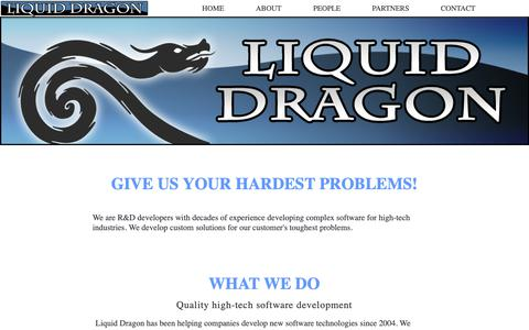 Screenshot of About Page Contact Page Press Page Team Page liquiddragon.com captured Nov. 10, 2018