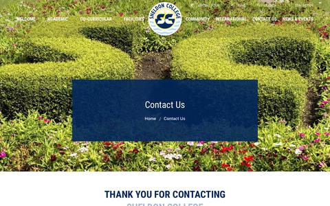 Screenshot of Contact Page sheldoncollege.com - Contact Us | Sheldon College - captured Sept. 21, 2018