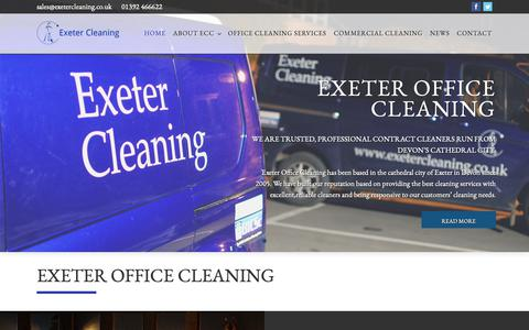 Screenshot of Home Page exeterofficecleaning.co.uk - Exeter Office Cleaning – Exeters Superior Office Cleaning Experts - captured Sept. 30, 2018