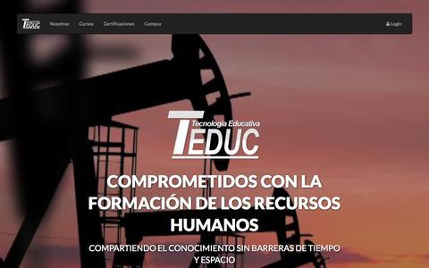 Screenshot of Home Page teduc.com.ar - Teduc - captured Sept. 1, 2015