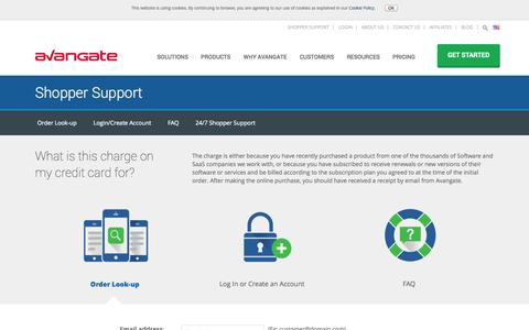 Screenshot of Support Page avangate.com - Customer support related to the order, payment or software delivery | Avangate - captured Oct. 10, 2014