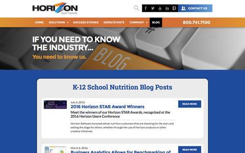 Screenshot of Blog horizonsoftware.com - Blog Posts - captured Nov. 12, 2016