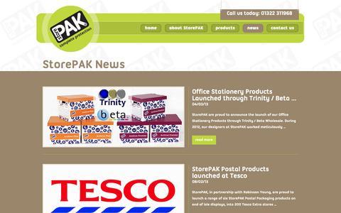Screenshot of Press Page storepak.co.uk - StorePAK News | StorePAK - captured Oct. 7, 2014
