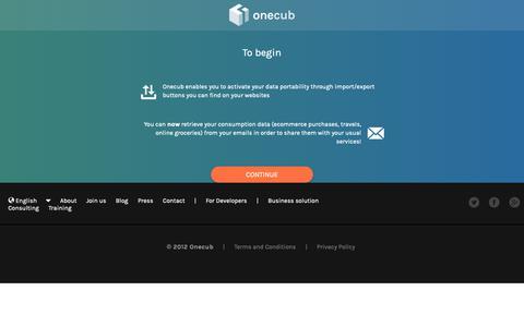Screenshot of Signup Page onecub.com - Onecub   Sign up - captured Dec. 11, 2018