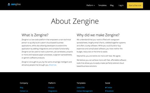 About | Zengine