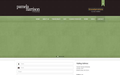 Screenshot of Contact Page pamelaharrisonministries.org - Contact  |  Pamela Harrison Ministries | Making Him known - captured Oct. 1, 2014