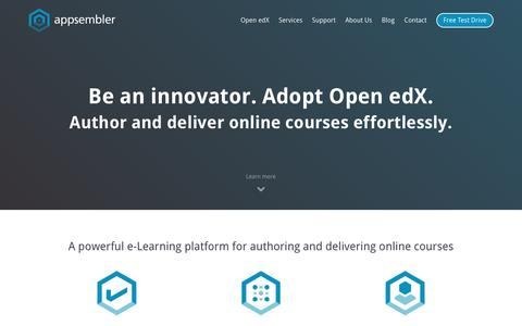 Screenshot of Home Page appsembler.com - Open edX service provider developer hosting implementation customization : Appsembler - captured Feb. 6, 2016