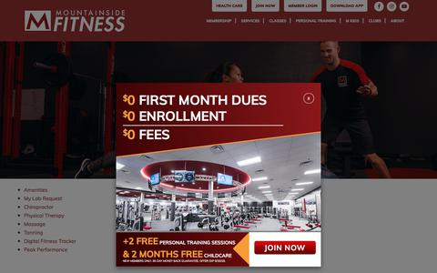 Screenshot of Services Page mountainsidefitness.com - Services - Mountainside Fitness - captured Sept. 23, 2018