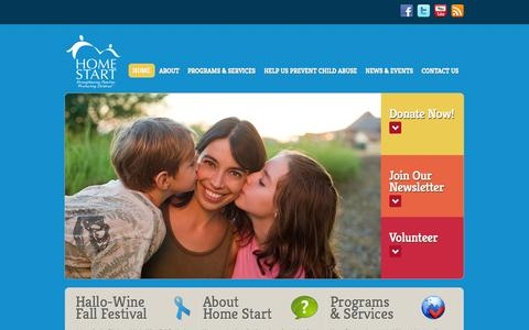 Screenshot of Home Page home-start.org - Home Start | Strengthening Families. Protecting Children - captured Oct. 2, 2014