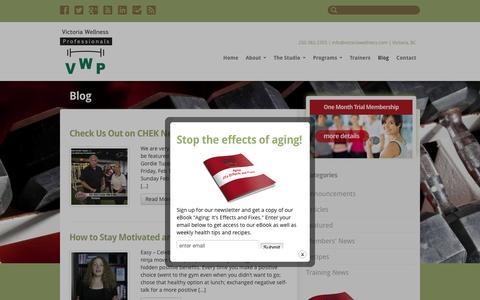 Screenshot of Blog victoriawellness.com - Blog - Victoria Wellness Professionals - captured Feb. 14, 2016