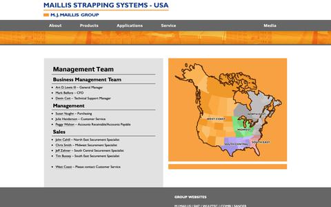 Screenshot of Team Page maillisstrapping.com - Management Team - captured Oct. 23, 2018