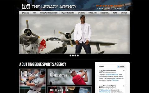 Screenshot of Home Page legacy-agency.com - The Legacy Agency - captured Oct. 8, 2014
