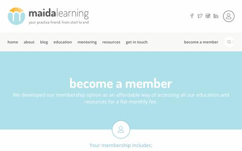 Screenshot of Signup Page maidalearning.com.au - Maida Learning - Become a member - captured July 14, 2018