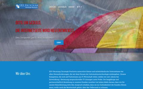 Screenshot of Home Page edvbp.de - Comming Soon - captured Jan. 23, 2016