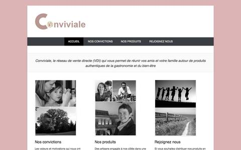Screenshot of Home Page Menu Page conviviale.fr captured Sept. 30, 2014