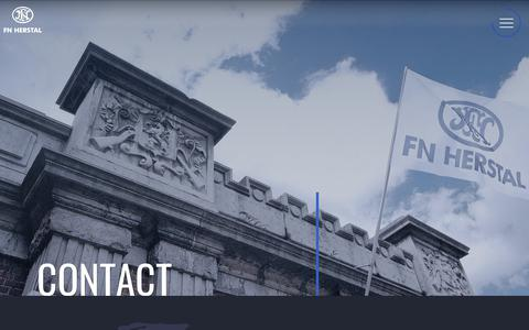Screenshot of Contact Page fnherstal.com - Contact   FN HERSTAL - captured Aug. 9, 2018