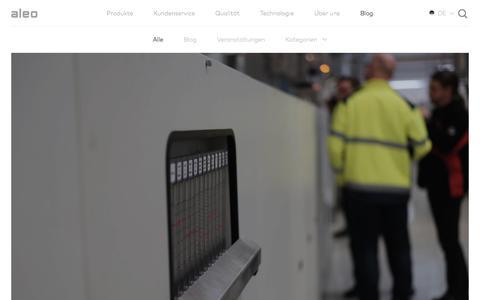 Screenshot of Blog aleo-solar.de - Blog - aleo solar - captured July 31, 2018