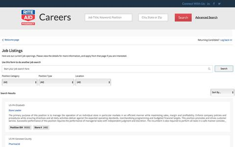 Careers Center | Job Listings