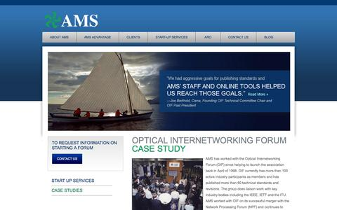 Screenshot of Case Studies Page amsl.com - AMS Case Studies - captured Oct. 4, 2014