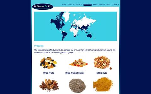 Screenshot of Products Page buttner-co.com - Quality products directly from origin - G.Buttner & Co. - captured Oct. 8, 2014