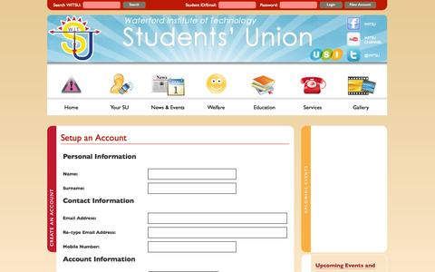 Screenshot of Signup Page witsu.ie - Create An Account - captured Oct. 7, 2014