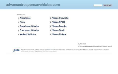 Screenshot of Home Page advancedresponsevehicles.com - advancedresponsevehicles.com-This website is for sale!-advancedresponsevehicles Resources and Information. - captured Nov. 20, 2016