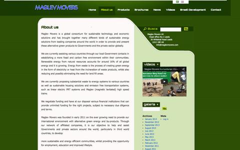 Screenshot of About Page maglevmovers.com - About us | Maglev Movers - captured Oct. 4, 2014
