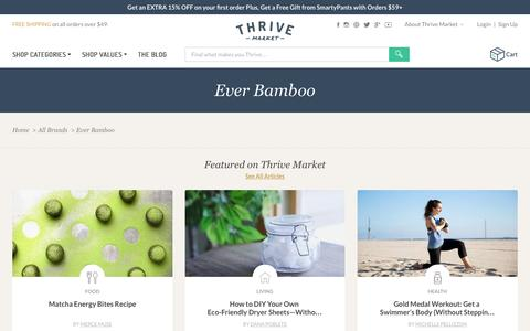 Screenshot of thrivemarket.com - Ever Bamboo - Thrive Market - captured Aug. 20, 2016