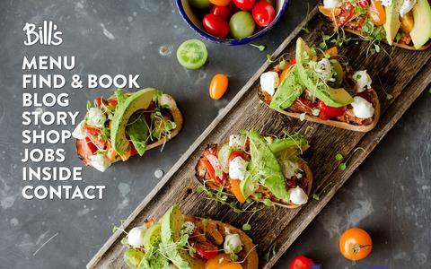 Screenshot of Home Page bills-website.co.uk - Bill's Restaurant - Breakfast to Bedtime - captured Oct. 2, 2015