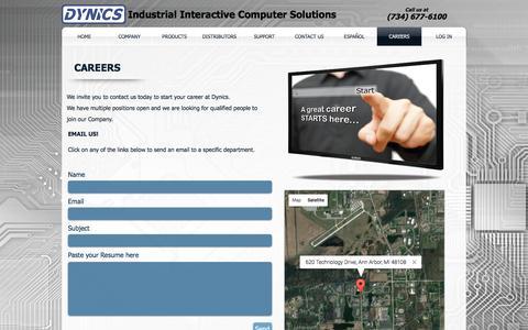 Screenshot of Jobs Page dynics.com - DYNICS - captured Nov. 24, 2016